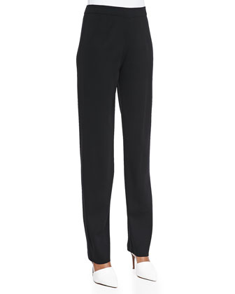 Classic Boot-Cut Pants, Black