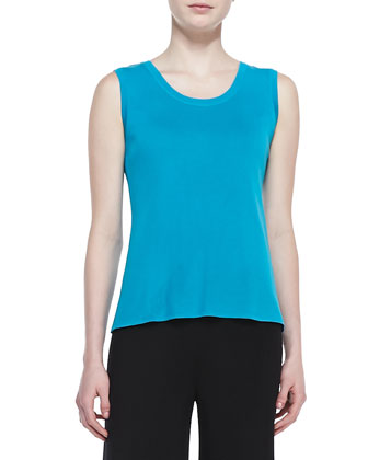 Scoop-Neck Sleeveless Tank Top, Women's