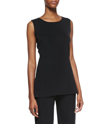Amy Scoop-Neck Tank Top, Petite