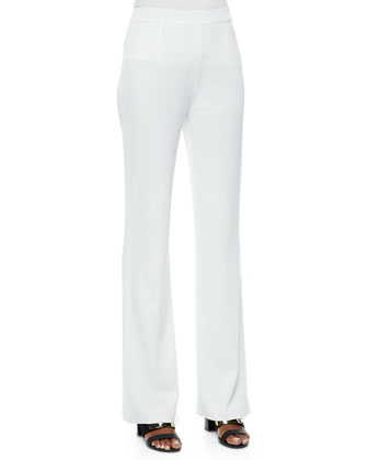Classic Boot-Cut Pants, White