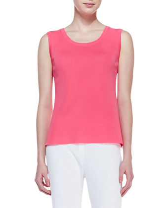 Scoop-Neck Sleeveless Tank, Women's