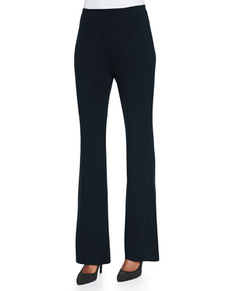 Boot-Cut Pants, Navy, Women's