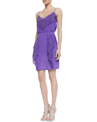Gloria Silk Lace Dress