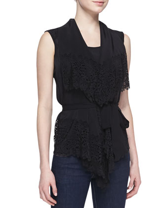 Gina Silk Lace Blouse