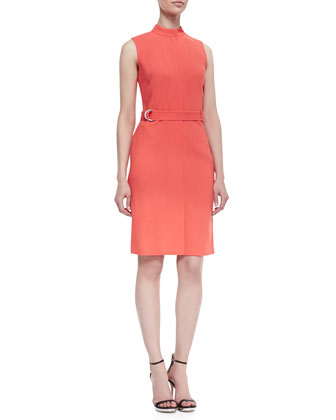 Belted Sleeveless Dress, Day Glow