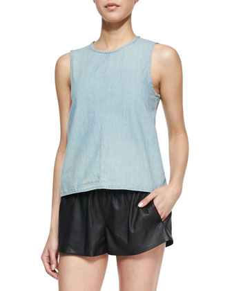 Nicole Split-Back Denim Tank