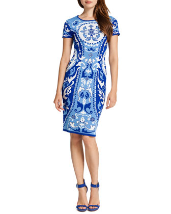Briella Printed Sheath Dress