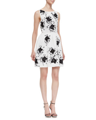 Lillyanne Embellished Cutout Dress