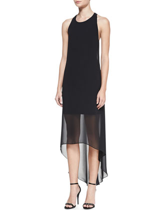 Lisk High-Low T-Back Dress