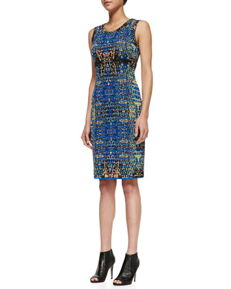 Digital Batik Sheath Dress