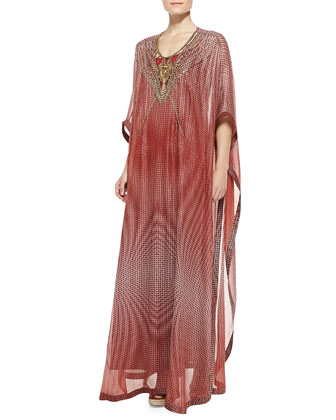 Clare Bead-Tech Maxi Coverup Dress