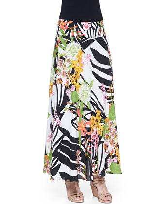 Botanical Garden Printed Maxi Skirt