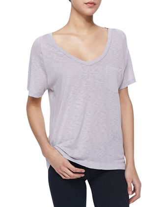 Short-Sleeve Slub Pocket Tee