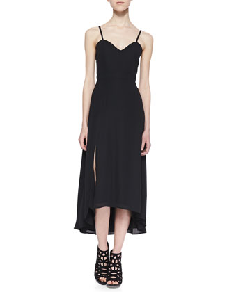 Heartthrob High-Low Maxi Dress, Black
