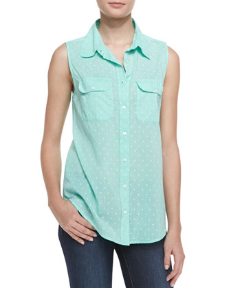 Sleeveless Star-Print Shirt