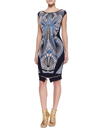 Tabae Jacquard-Print Formfitting Dress