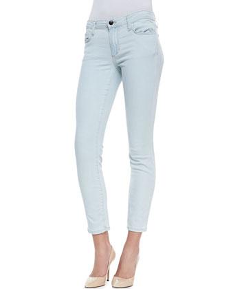 Brea Sun Faded Skinny-Leg Cropped Jeans