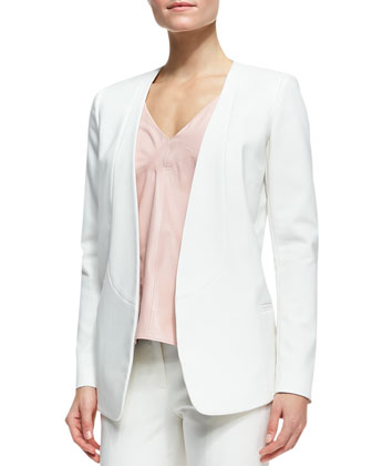 City Stretch Arched-Back Blazer