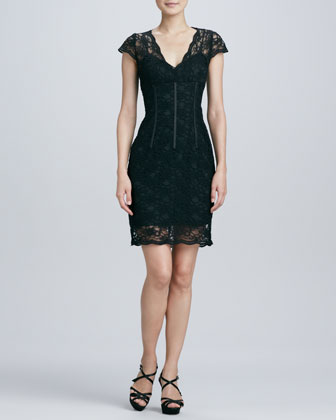 Lace Corset Cocktail Dress
