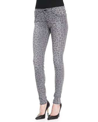 620 Mid-Rise Super Skinny Jeans, Onyx Leopard