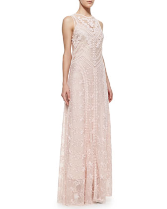 Neo-Romantic Lace Sleeveless Dress
