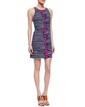 Loma Printed-Jersey Sleeveless Dress