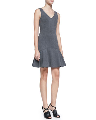 Carla Sleeveless Dropped-Waist Dress