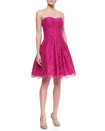 Ava Sweetheart Strapless Lace Dress