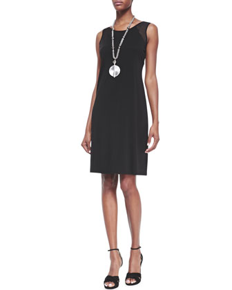 Gossamer Crepe Wrap Cardigan & Sleeveless Silk Jersey Dress