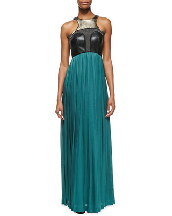 Raphaela Silk & Leather Dress