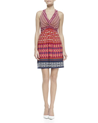 Printed Jersey Halter Dress