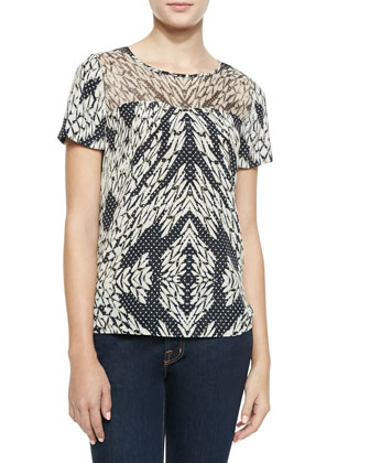 Angela Printed Georgette Blouse