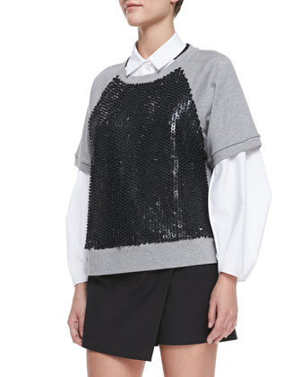 Armor Jersey Beaded Sweatshirt