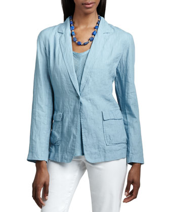Linen One-Button Jacket