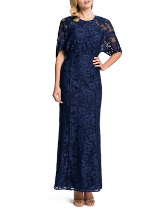 Mara Half-Sleeve Lace Maxi Dress