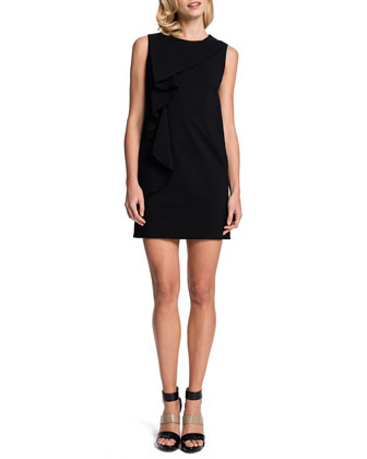 Kyle Sleeveless Cascading-Ruffle Dress