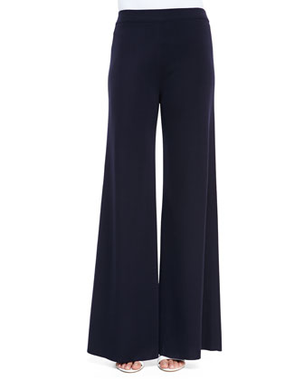 Fit & Knit Palazzo Wide-Leg Pants, Women's