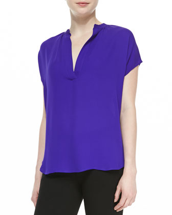 Alana Short-Sleeve V-Neck Shirt
