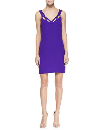 Jillian Crisscross Strapless Dress