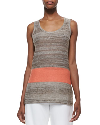 Serape Striped Knit Tank, Petite
