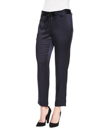 Vintage Satin Tie-Waist Pants
