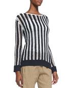 Utopian Two-Tone Striped Sweater