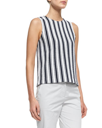 Cyclade Striped Knit Tank Top & Summer Twill Cropped Pants