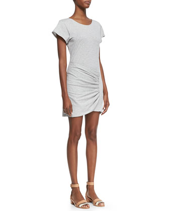 Sunly Slub Wrap Tee Dress