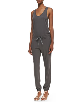 Koda Tank-Top Drawstring Jumpsuit