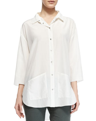 Freyza Blaire Button-Up Hip-Pocket Shirt