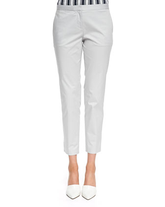 Summer Twill Cropped Pants, Cement