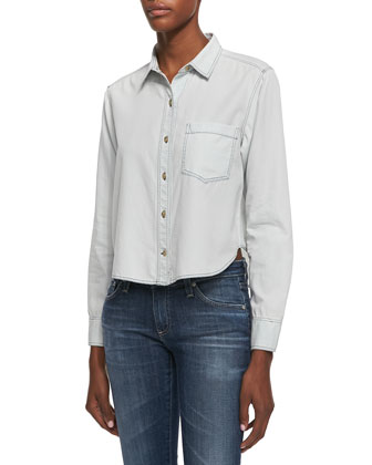 Legano High-Low Cotton Travel Shirt