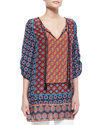 Courtney Silk Long Tunic, Women's