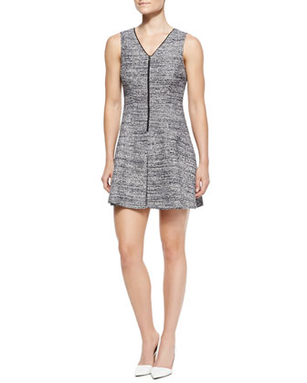 Cushy Haddie Tweed Sleeveless Dress